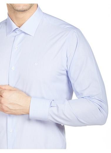 Bisse GM20Y21101 Uzun Kollu Klasik Gömlek Mavi